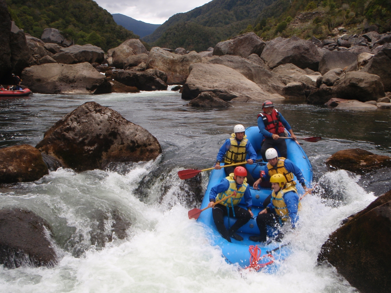 White Water Rafting In South Island New Zealand 31