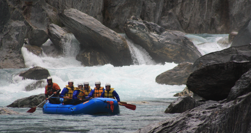 White Water Rafting In South Island New Zealand 110